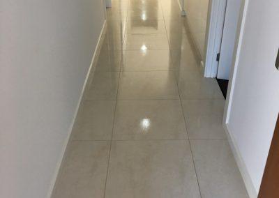 Clean Tiled Hallway